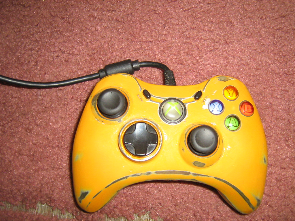 Corded Custom Xbox 360 Controller by Pyronide on DeviantArt