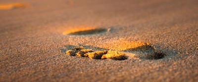 Footprint-in-Sand by Greentinn