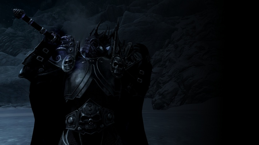 The Lich King in Skyrim by NeonBlacklightTH