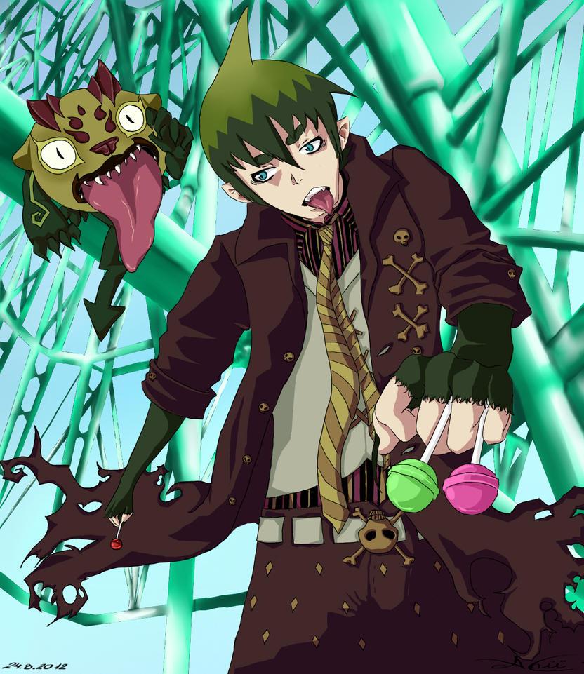 Amaimon And Behemoth by Lerelinne-Hibiki