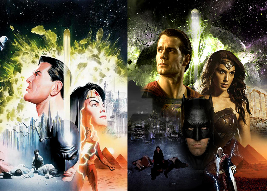 Batman V Superman Alex Ross Style W Shazam By Thewolverine94