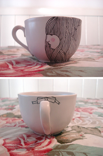 hand drawn teacup by songsforlunatics