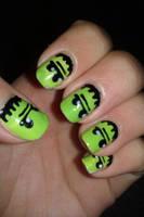 Frankenstein nails by LittleMissTass