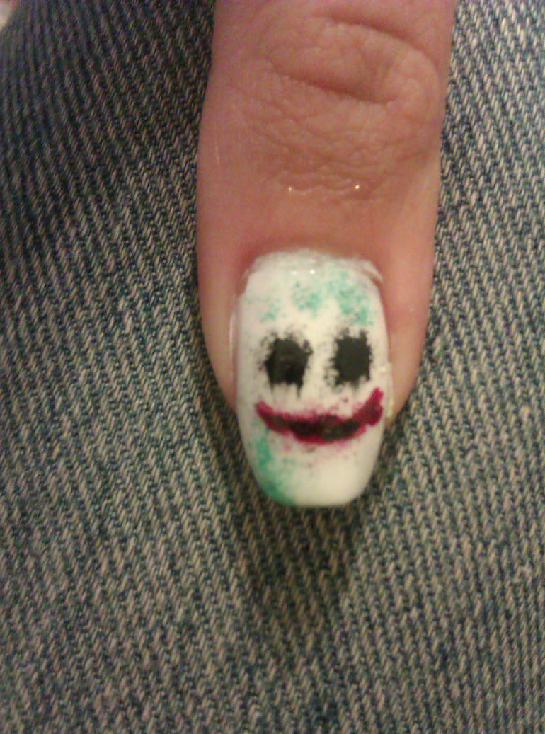 The Joker nail art by LittleMissTass on DeviantArt