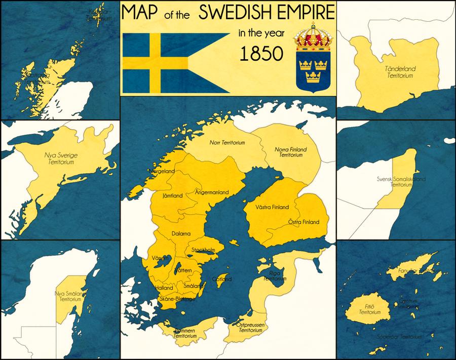 Swedish Empire By By MarshalBraginsky On DeviantArt - Sweden map 1600