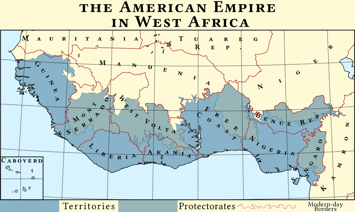 American Empire in West Africa by IntrepidTee