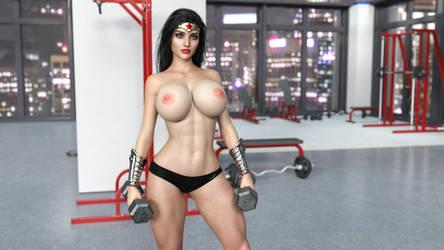 WW in gym new skin test by HeroineAdventures