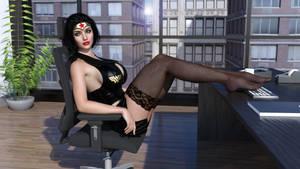 Wonder Woman Working by HeroineAdventures