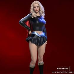 Dark Supergirl by HeroineAdventures