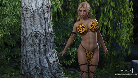 Jungle Girl Forest SFW by HeroineAdventures