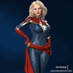 Captain Marvel promo SFW by HeroineAdventures