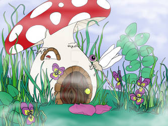 The Dragonfly and the Mushroom