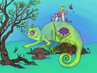 Chameleon by Child-Of-Gaea