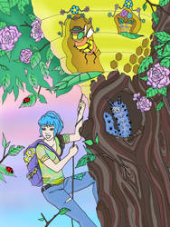 The Honey Theft 2.0 by Child-Of-Gaea