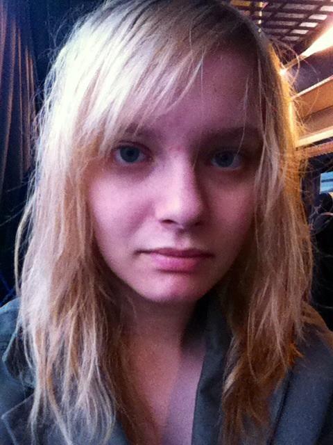 Wet Hair in the Bus Selfie by Eriluvs