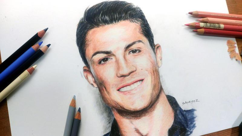 Cristiano Ronaldo Colored Pencil Drawing By Shreyas Pailkar On Deviantart
