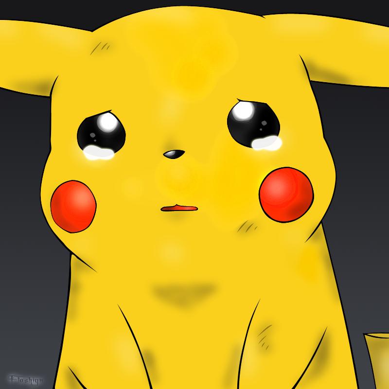 Pikachu crying drawing - photo#12