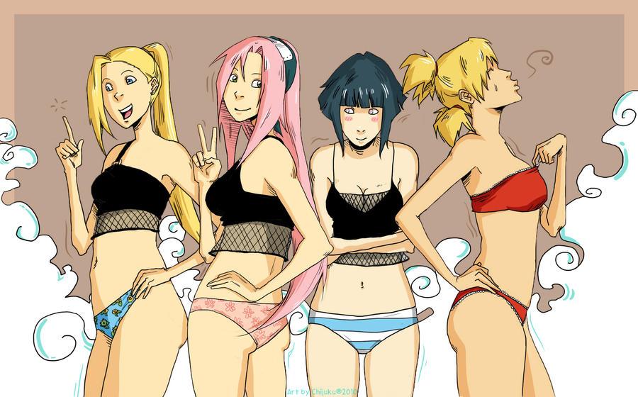 Kiriban Naruto girls by chijuku Figure is a cross between Women's Bodybuilding and a Bikini model.
