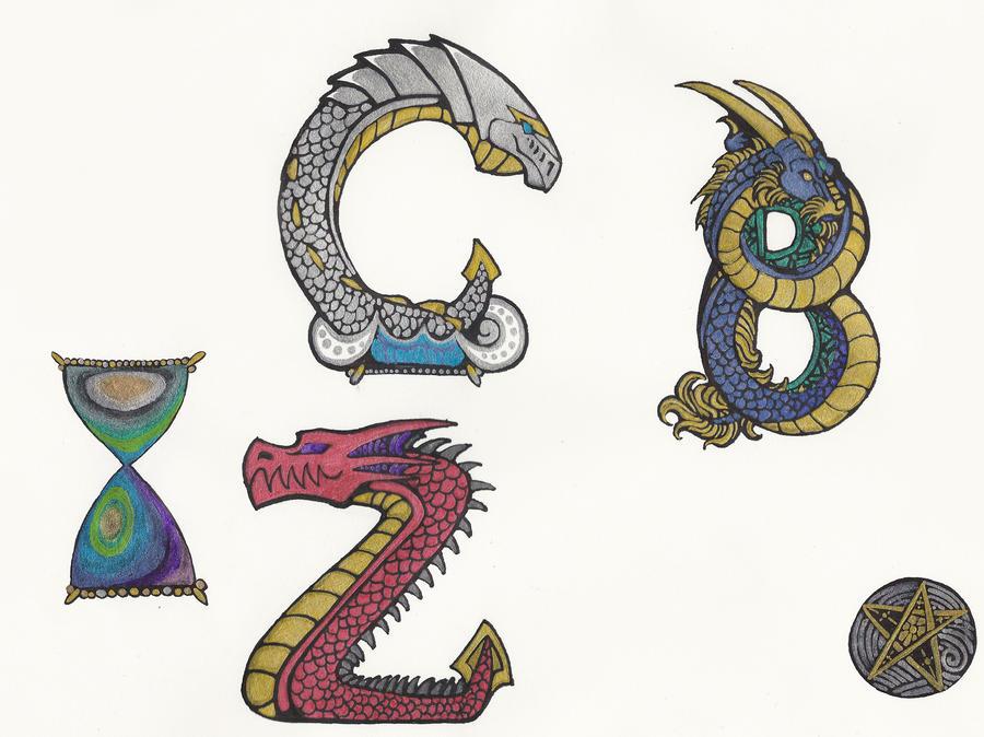 Dragon Letters Designs by StellaDraco