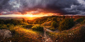 Sunset Panorama by MartinAmm