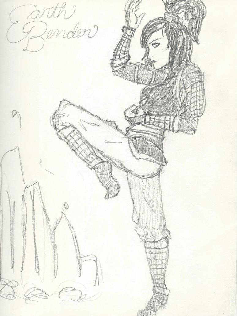 Earth Bender Girl by kanjou365