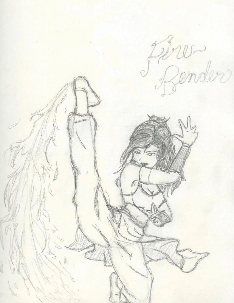 Fire Bender Girl by kanjou365