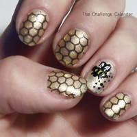 Honeycomb Nail Art by jaxcullengfx