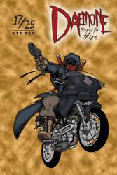 Daemone on His Bike