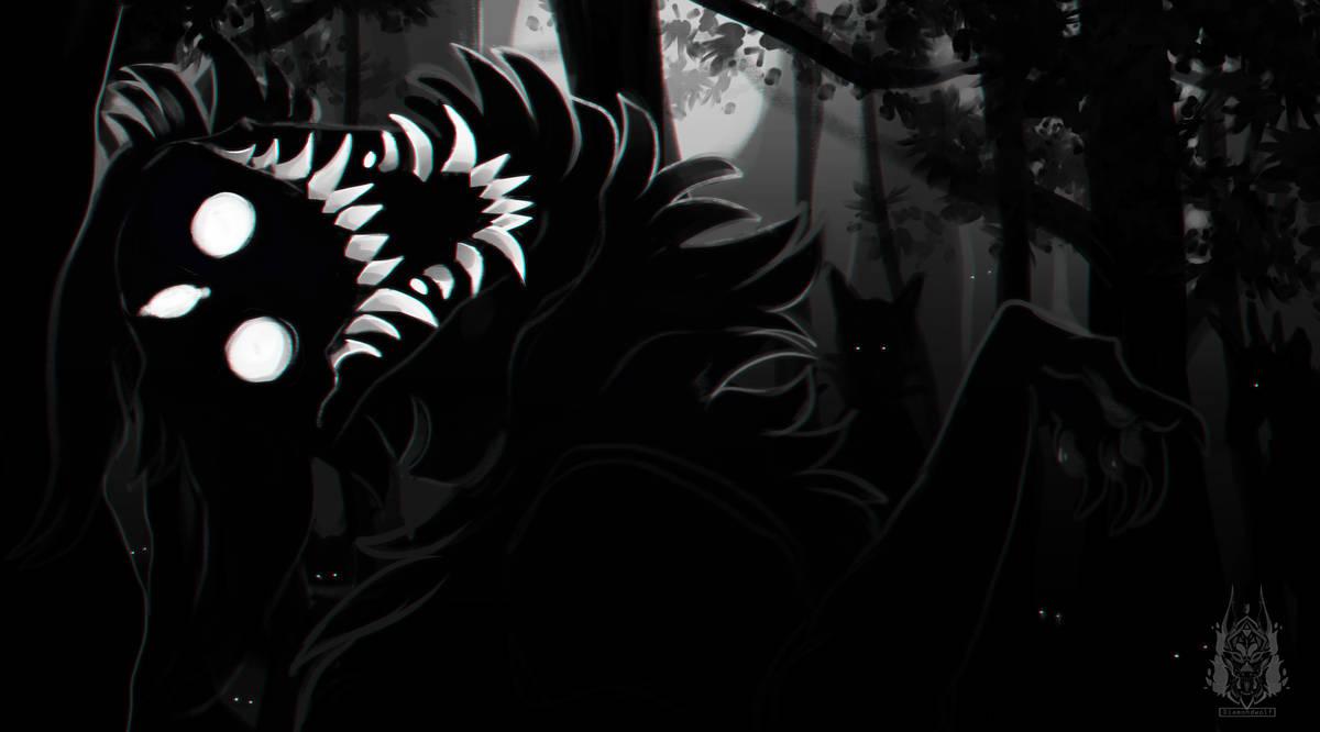 Spooky Dog by DiamondwolfArt on DeviantArt