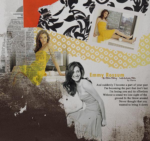 Emmy Rossum collage by demolitionn