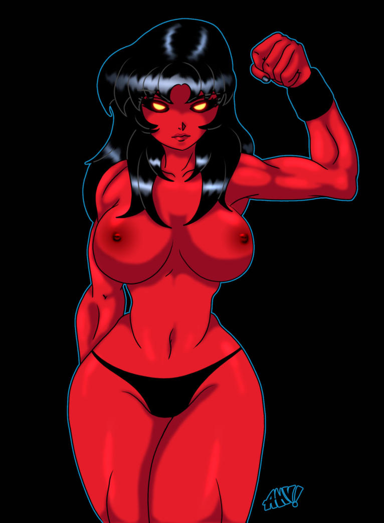 Red She-Hulk by DesingAHV