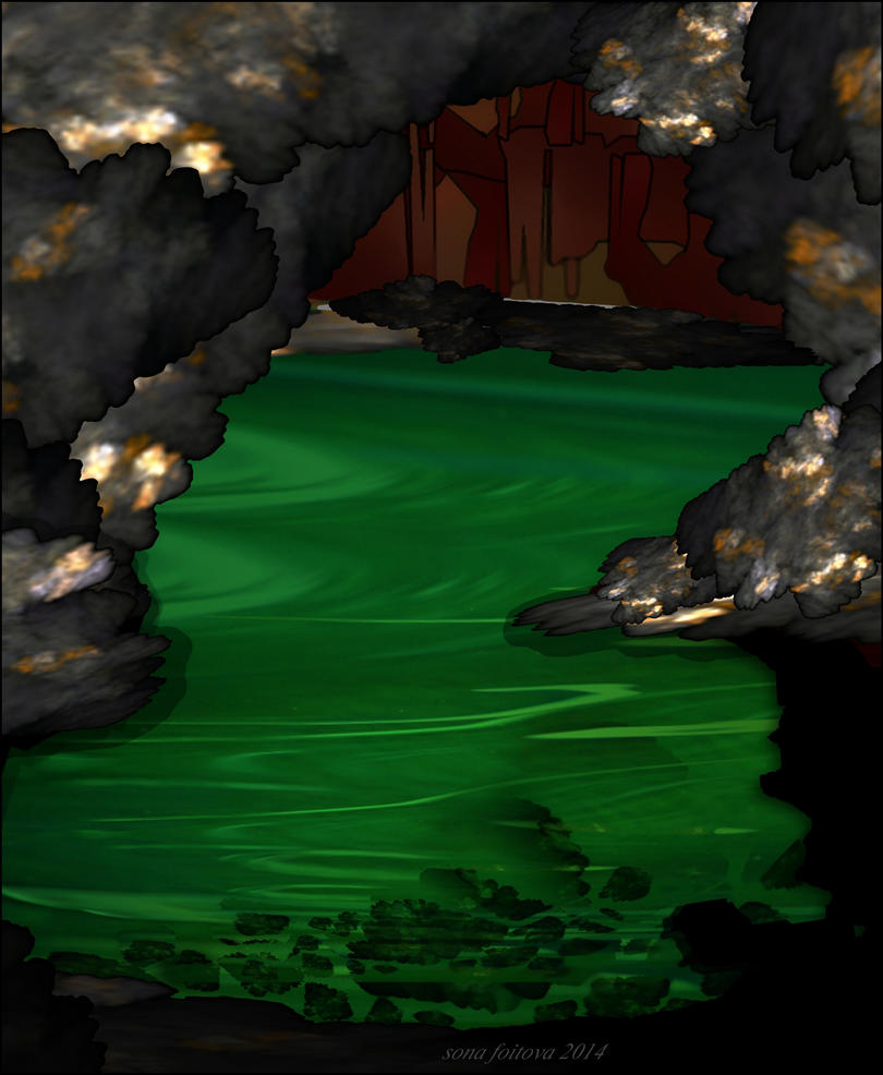 Lake in the rocks-apo by sonafoitova