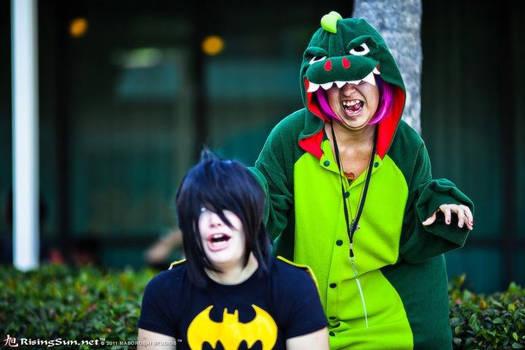 Batderpman and Godzilla