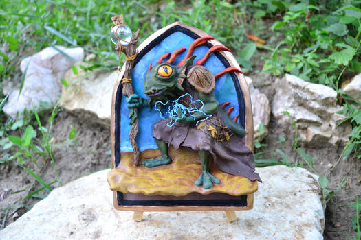 Morgl, The Oracle - Hearthstone Sculpture