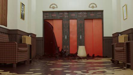 The Shining /// Elevator Door Blood Scene