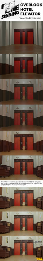 Shining Elevator Blood Scene WIPs Making Of