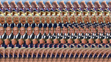 Our last trump is justice /// Stereogram Magic Eye