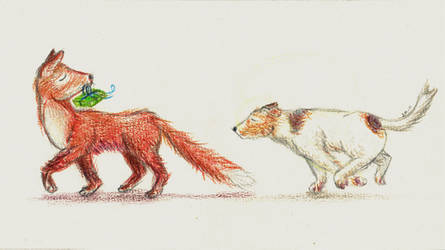 A fox and a terrier by GeeZeRProductions