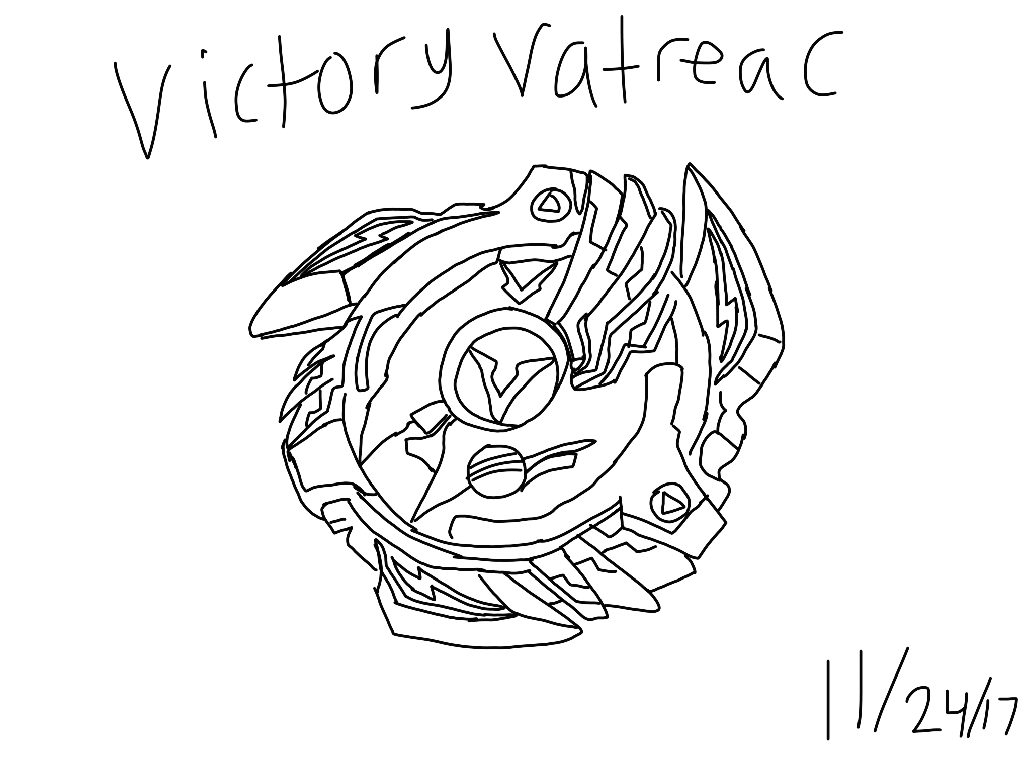 Beyblade victory valtreac drawing by taylorliufilmsart on for Beyblade burst coloring pages