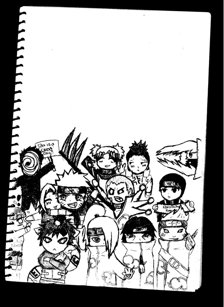 Chibi Naruto Characters By Lunartrick
