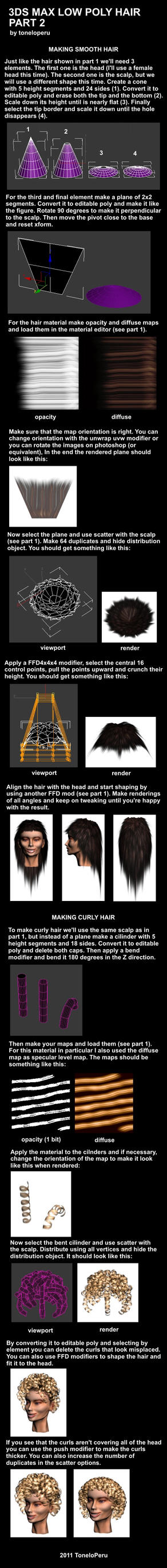 Low poly hair tutorial pt 2 by toneloperu