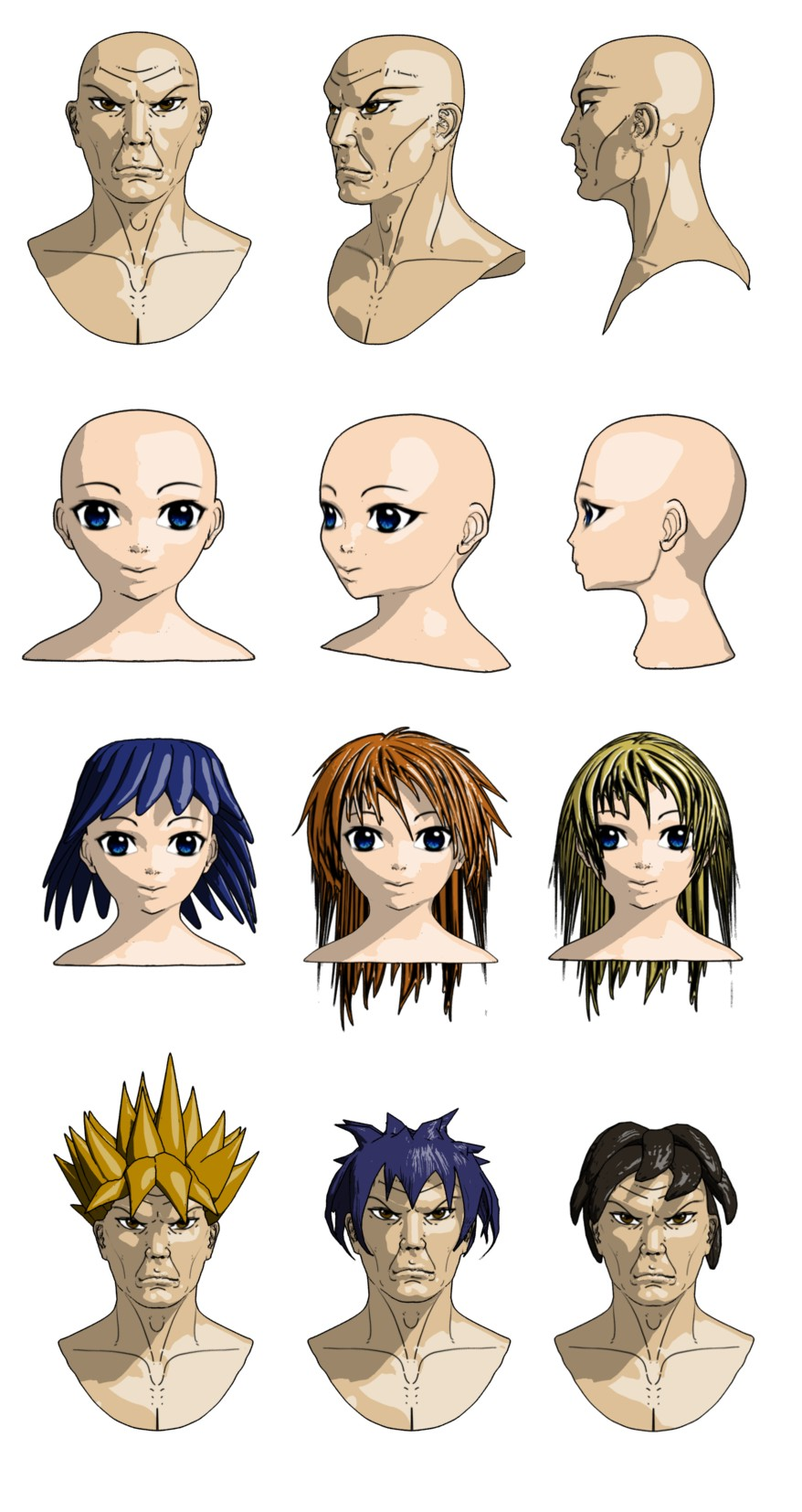 anime hair style anime style render by toneloperu on deviantart 3128