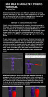 3DS Max character posing tutorial