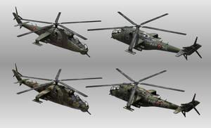 low poly Mi-24 Hind