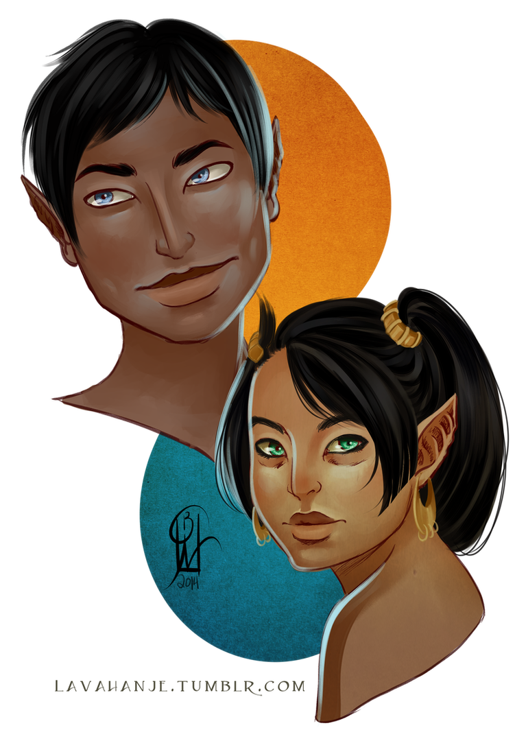 Zoyu and Jiyali by Lavahanje