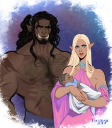 Kagan and Eslana by Lavahanje