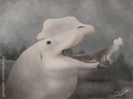 Dilophosaurus wetherilli by SebastianDrawsDinos
