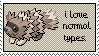 Normal Type Pokemon Stamp. by sapphirewindx