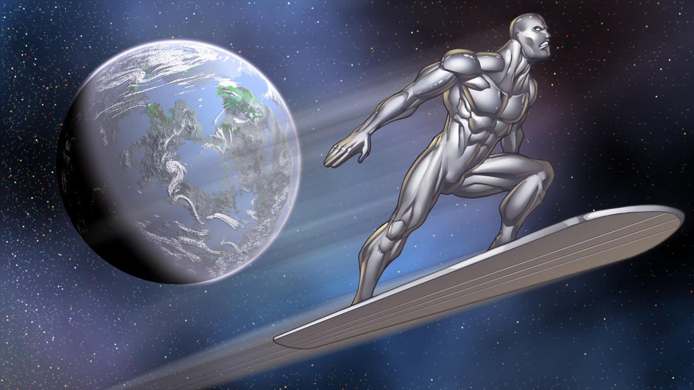 Ryan Kinnairds Silver Surfer By Ranwolf1976