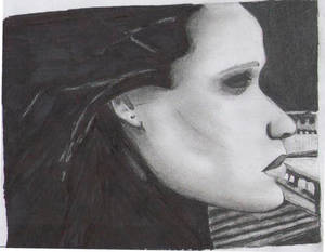A weird drawing of Adele